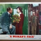 DQ50 Woman's Face JOAN CRAWFORD/DOUGLAS Lobby Card