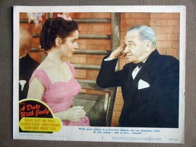 DW15 Date wth Judy ELIZABETH TAYLOR Portrait Lobby Card
