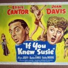 DY27 If You Knew Susie EDDIE CANTOR 47 Title Lobby Card