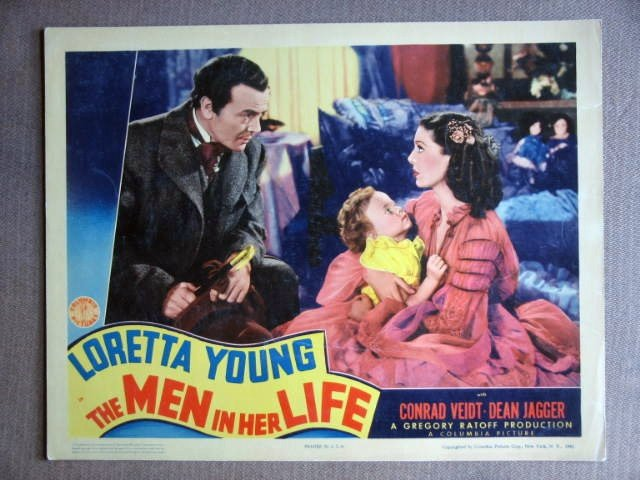DZ24 Men In Her Life LORETTA YOUNG/D JAGGER Lobby Card