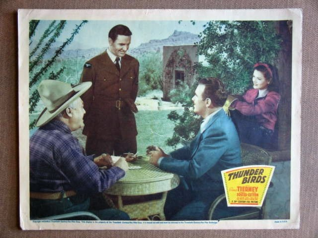 EA48 Thunderbirds GENE TIERNEY Original 1942 Lobby Card