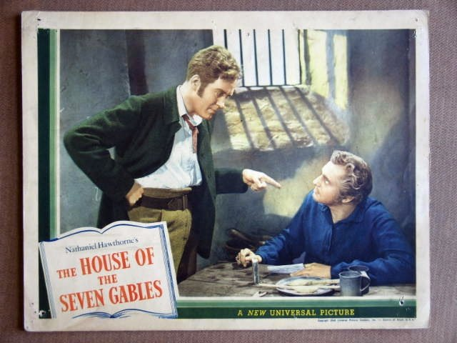 EB22 House Of Seven Gables VINCENT PRICE '40 Lobby Card
