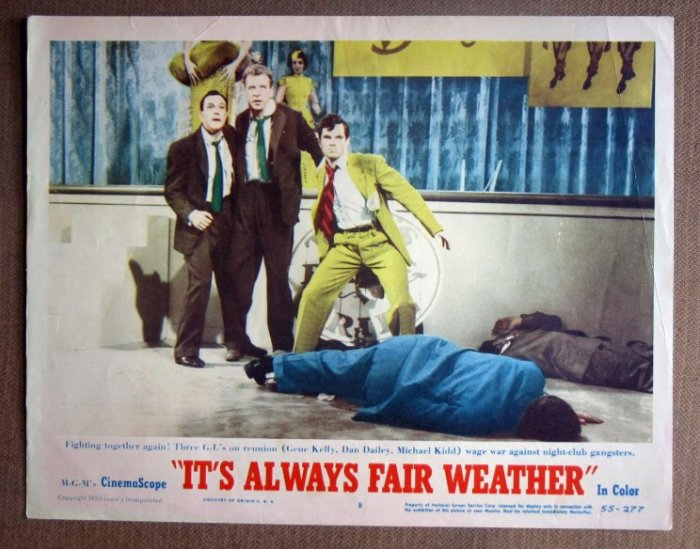 DL20 It's Always Fair Weather GENE KELLY '55 Lobby Card