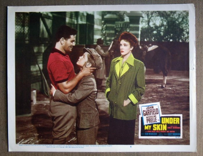DM46 Under My Skin JOHN GARFIELD Orig 1950 Lobby Card