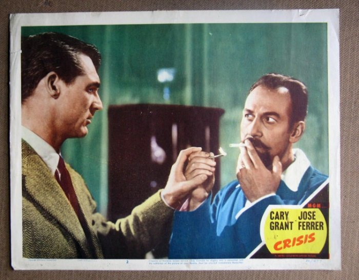 DN15 Crisis CARY GRANT/JOSE FERRER Portrait Lobby Card
