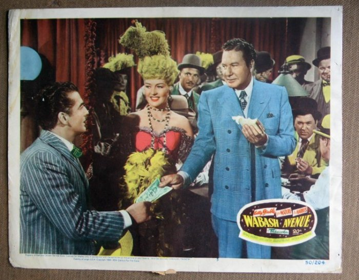 DN51 Wabash  Avenue BETTY GRABLE 1950 orig LC