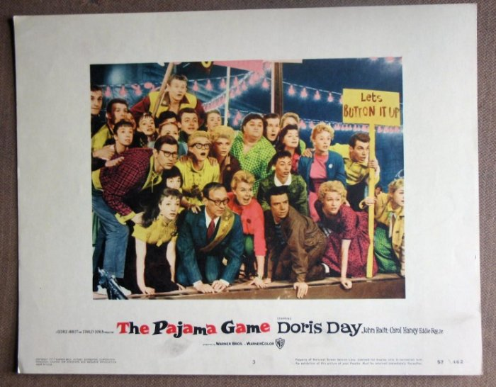 DO43 Pajama Game DORIS DAY/CAROL HANEY Lobby Card