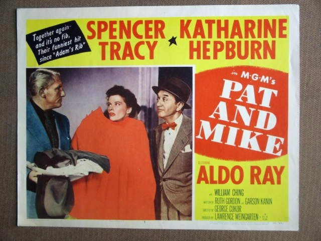 DW33 Pat & Mike KATHARINE HEPBURN/S TRACY Lobby Card