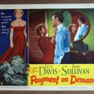 DX42 Payment On Demand BETTE DAVIS 1951 Lobby Card