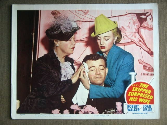 DX44 Skipper Surprised Wife ROBERT WALKER Lobby Card