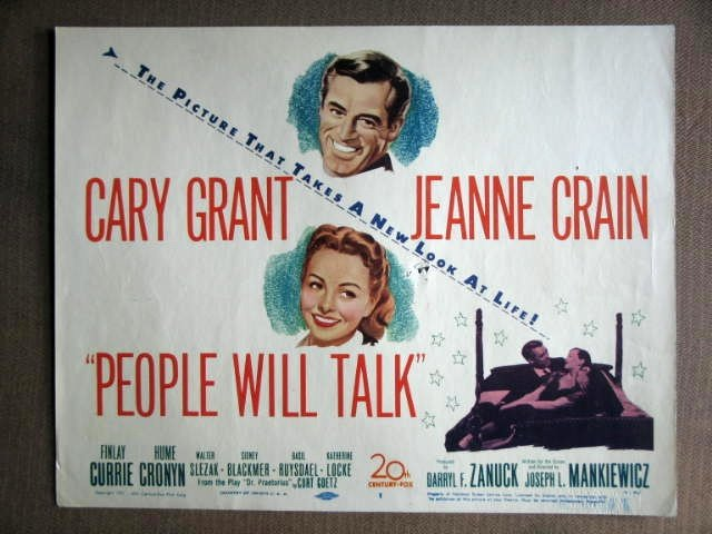 DZ31 People Will Talk CARY GRANT/CRAIN Title Lobby Card