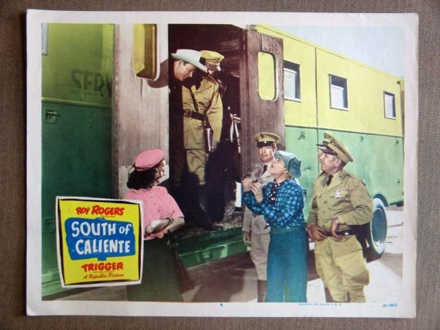 EA41 South Of Caliente ROY ROGERS 1951 Lobby Card