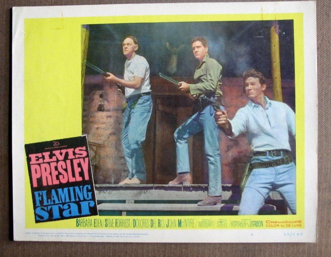 DK16 Flaming Star ELVIS PRESLEY Original '60 Lobby Card