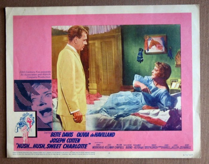 DL17 Hush Sweet Charlotte BETTE DAVIS/COTTEN Lobby Card