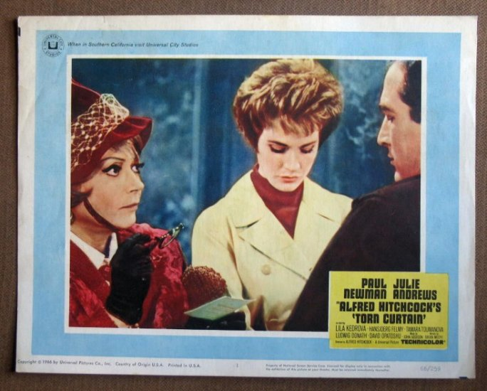 DQ47 Torn Curtain JULIE ANDREWS Hitchcock Lobby Card