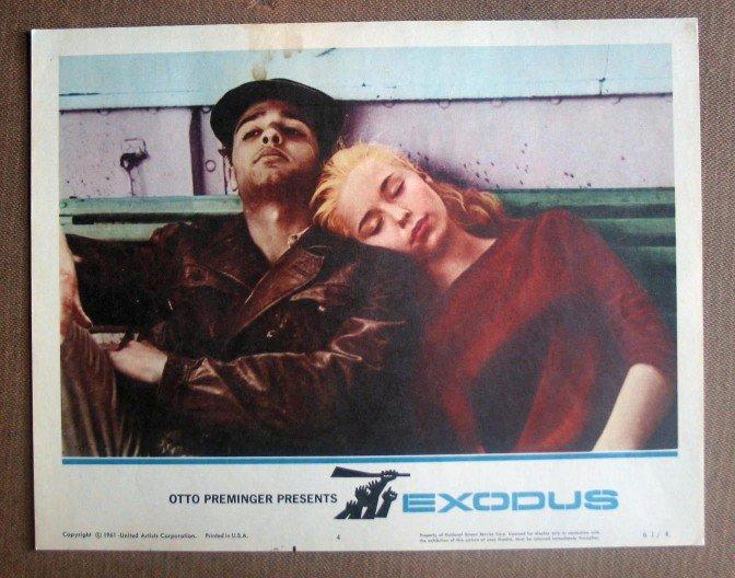 DR16 Exodus SAL MINEO 1961 PORTRAIT Lobby Card