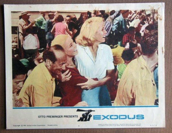 DT10 Exodus EVA MARIE SAINT/PAUL NEWMAN Lobby Card