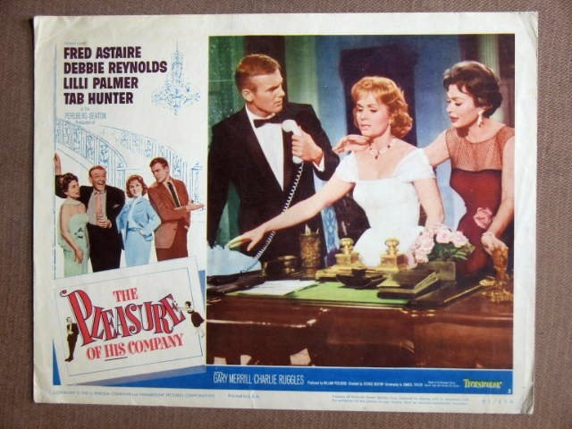DW34 Pleasure Of His Company DEBBIE REYNOLDS Lobby Card