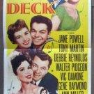 DS19 Hit The Deck ANN MILLER/D REYNOLDS Insert Poster