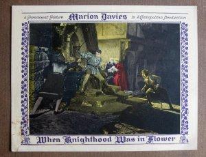 CW46 When Knighthood MARION DAVIES 1922 Lobby Card