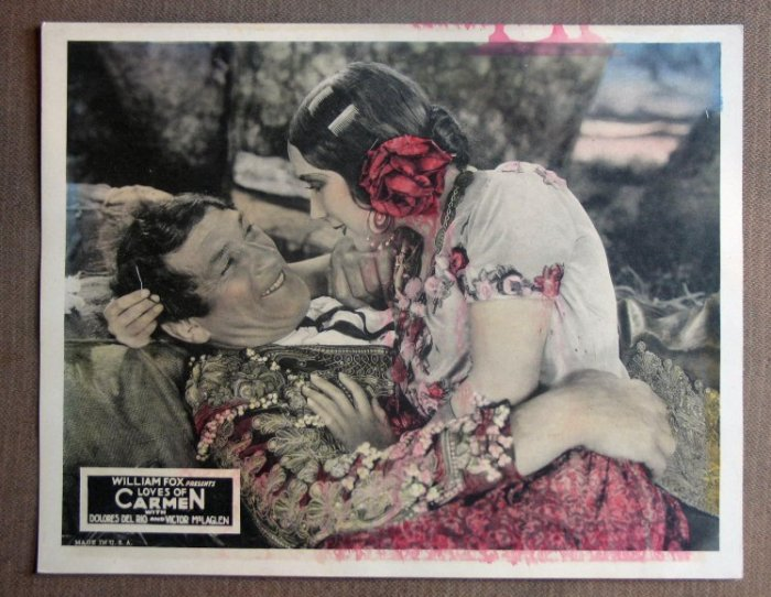 DI18 Loves Of Carmen DOLORES DEL RIO 1927 Lobby Card