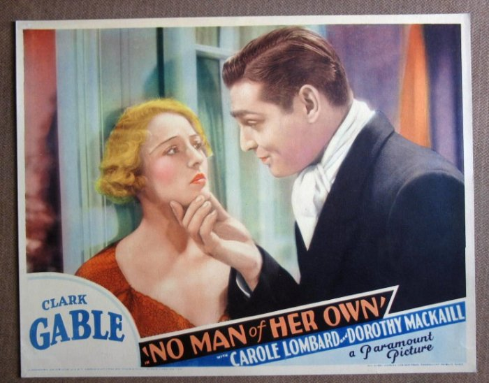 CV29 No Man Of Her Own CLARK GABLE early 1932 mint LC