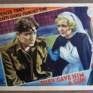 CZ40 They Gave Him A Gun SPENCER TRACY '37 Lobby Card