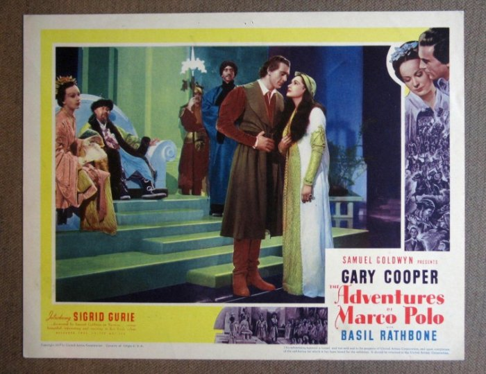 DA04 Adventures Of Marco Polo GARY COOPER '37  orig LC