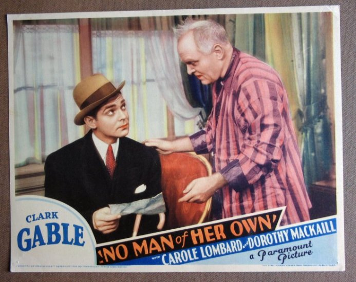 DB27 No Man Of Her Own CLARK GABLE 1932 Lobby Card