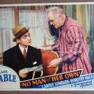 DB27 No Man Of Her Own CLARK GABLE 1932 Lobby Card