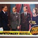 DE19 Fast & Loose ROBERT MONTGOMERY Orig '39 Lobby Card