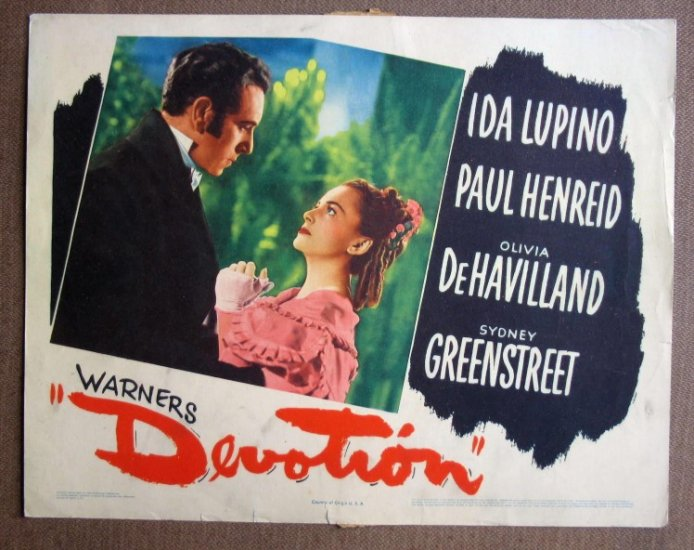 CT11 Devotion OLIVIA DeHAVILLANDorig '46 Lobby Card