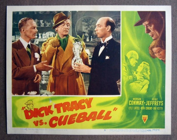 CT13 Dick Tracy vs Cueball MORGAN CONWAY Lobby Card