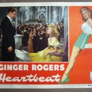 CT19 Heartbeat GINGER ROGERS Orig 1946 Lobby Card