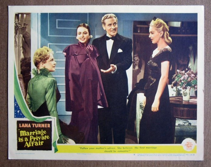CT31 Marriage Is Private Affair LANA TURNER orig '44 LC