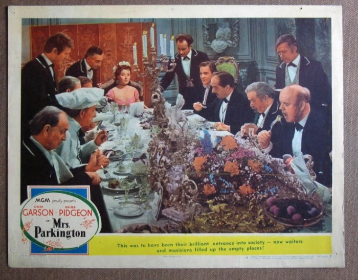 CV27 Mrs Parkington GREER GARSON Orig 1944 Lobby Card