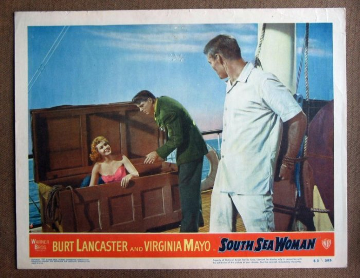 CY38 South Sea Woman BURT LANCASTER/V MAYO Lobby Card