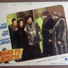 CZ36 Road To Utopia BOB HOPE/BING CROSBY Lobby Card