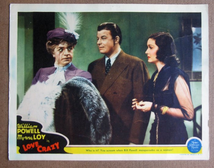 DC22 Love Crazy WILLIAM POWELL (in drag) orig '41 LC