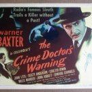 DD08 CRIME DOCTOR'S WARNING Warner Baxter '45 TC