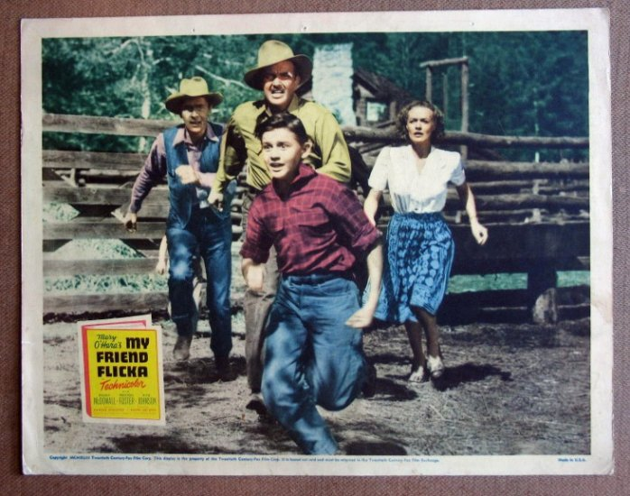 DE36 My Friend Flicka RODDY McDOWALL 1943 Lobby Card