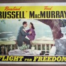 DG11 Flight For Freedom ROSALIND RUSSELL '43 Lobby Card