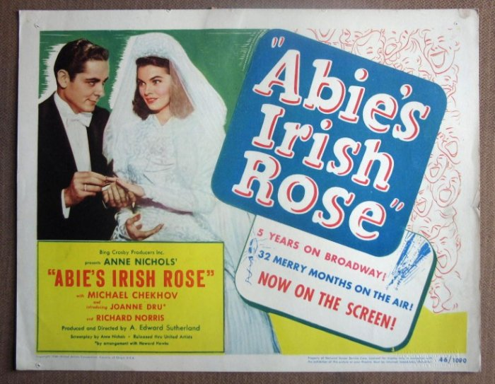 DI01 Abie's Irish Rose JOANNE DRU 1946 Title Lobby Card