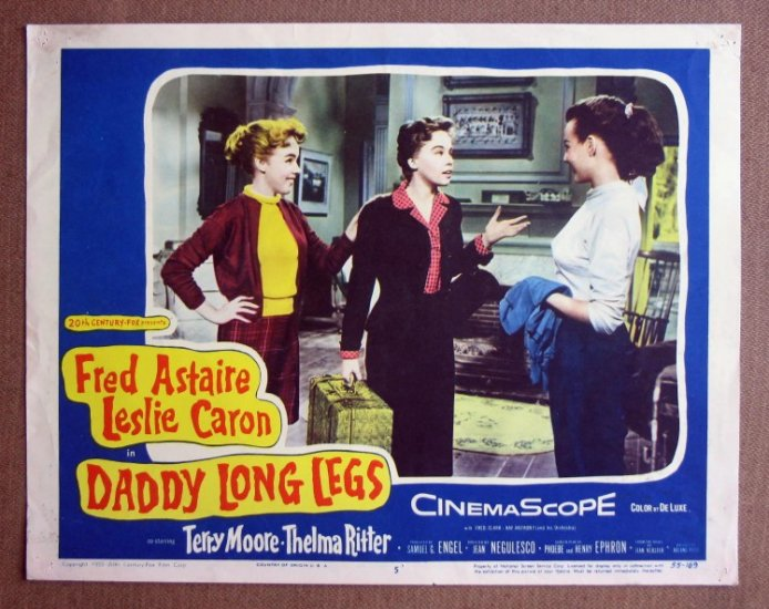 CT08 Daddy Long Legs ASTAIRE/LESLIE CARON Lobby Card