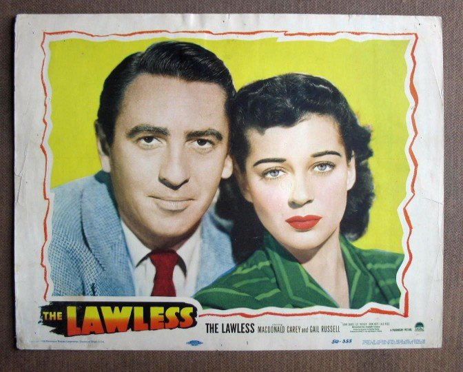 CU29 The Lawless GAIL RUSSELL 1950 Portrait Lobby Card