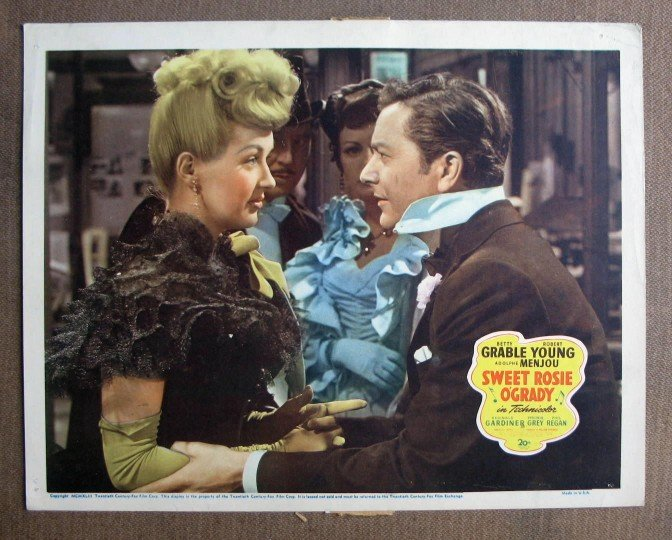 CU38 Sweet Rosie O'Grady BETTY GRABLE/YOUNG Lobby Card