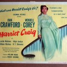 DA23 HARRIET CRAIG Joan Crawford TERRIFIC orig '50 TC