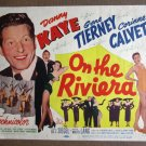 DA39 On The Riviera GENE TIERNEY/DANNY KAYE orig '51 TC