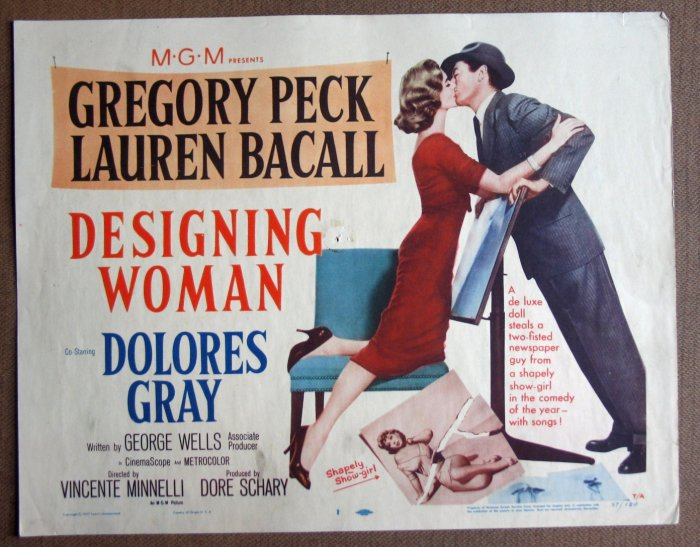 DC08 Designing Woman Bacall/Peck orig '57 title card