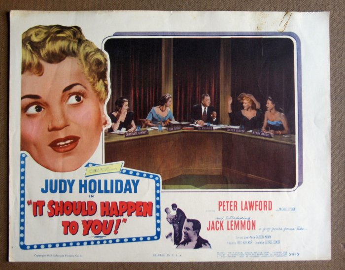 DC18 It Should Happen To You JUDY HOLLIDAY Lobby Card